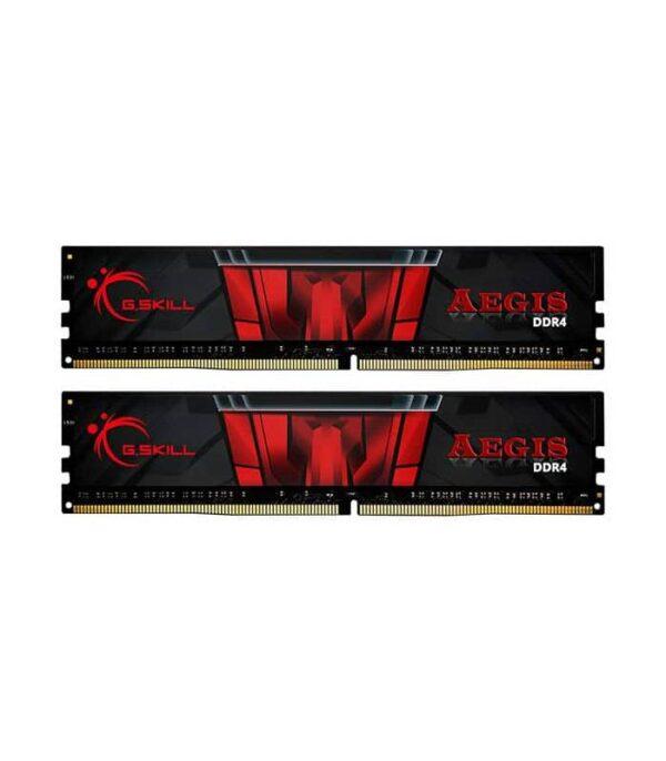 رم کامپیوتر DDR4 دو کاناله 3200 مگاهرتز CL16 جی اسکیل مدل Aegis ظرفیت (2×8)16 گیگابایت
