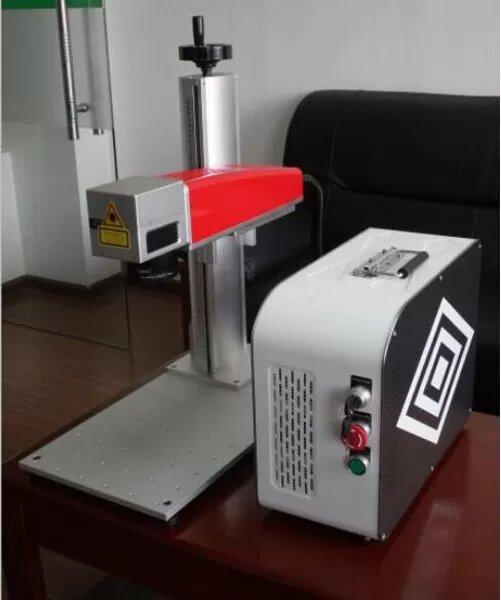 20W فایبر لیزر مارکر برای پی وی سی پلاستیک و بارکد