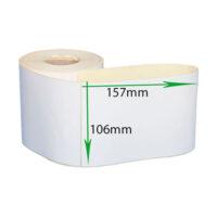 لیبل (برچسب) کاغذی 157*106 رول 500 عددی