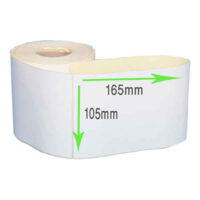 لیبل (برچسب) کاغذی 165*105 رول 1000 عددی