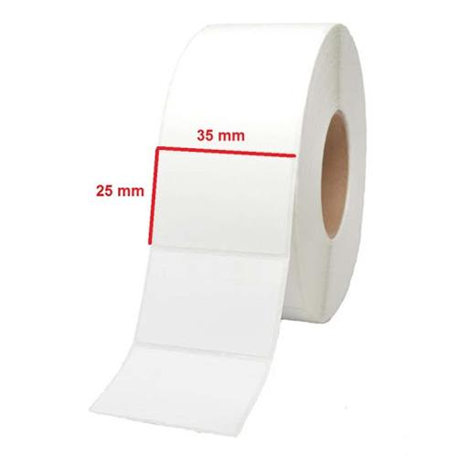 لیبل(برچسب) کاغذی 35*25 رول 2000 عددی