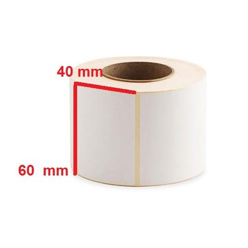 لیبل(برچسب) کاغذی 60*40 رول 1000 عددی