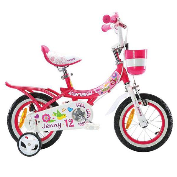 دوچرخه قناری مدل JENNY سایز 12 رنگ صورتی